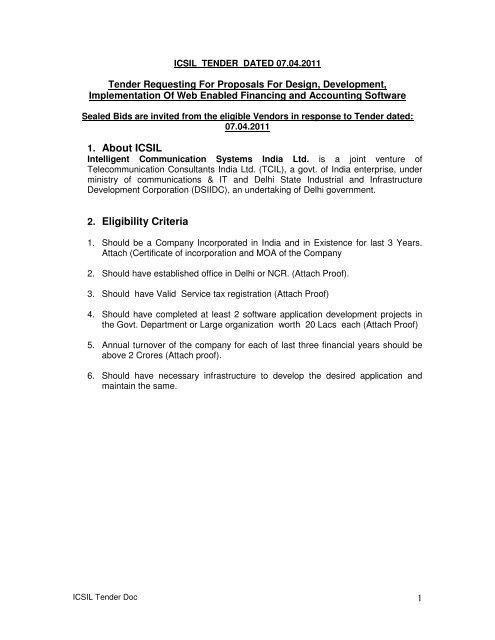 1  About ICSIL 2  Eligibility Criteria - intelligent