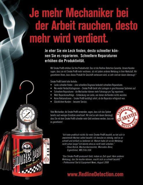 Je mehr Mechaniker bei der Arbeit rauchen, desto mehr wird verdient.