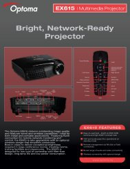 EX615 - the Optoma Marketing Intranet.