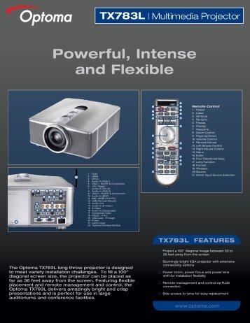 TX783L - the Optoma Marketing Intranet.