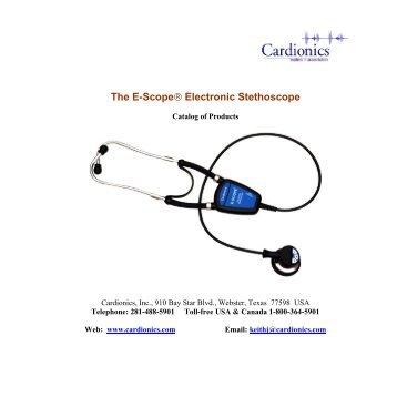 The E-Scope® Electronic Stethoscope - Cardionics