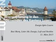 Energieplanung in den Gemeinden des Kantons Luzern