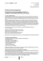 Bericht von der 16. Passivhaustagung in Hannover 2012