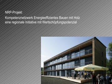 Kompetenznetzwerk energieeffizientes Bauen mit Holz ? eine ...