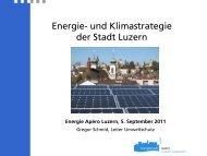 Kommunale Energiepolitik und 2000-Watt-Gesellschaft