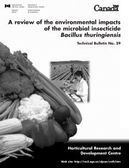 A review of the environmental impacts of the microbial insecticide ...