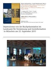 Impressionen von der Buchpräsentation im Landesamt für ...