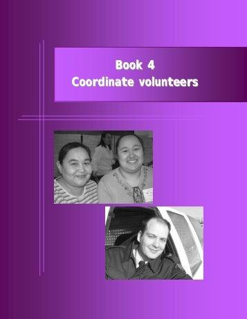 Book 4 Coordinate volunteers