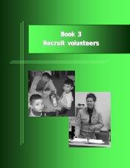 Book 3 Recruit volunteers