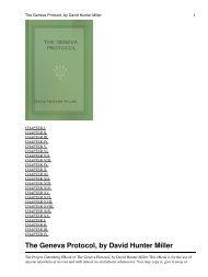The Geneva Protocol, by David Hunter Miller