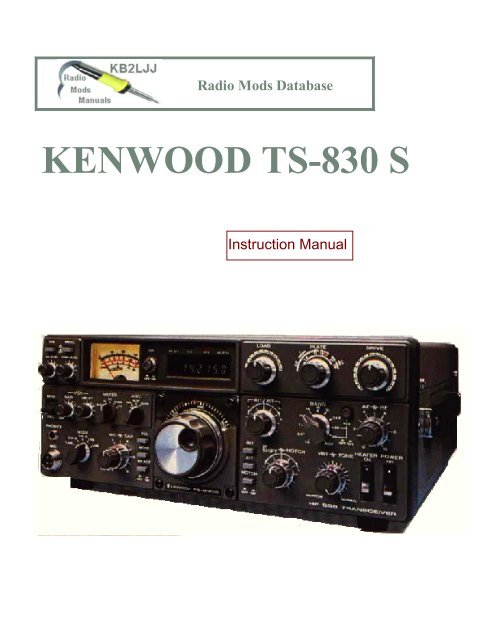 Kenwood TS- 830 operations manual