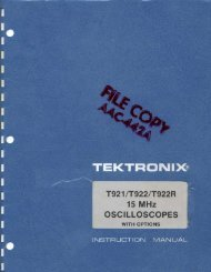 T921/T922/T922R Manual - AnaLog Services, Inc.