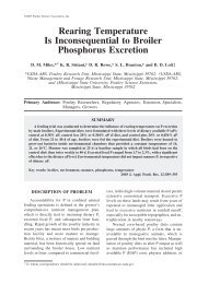 Rearing Temperature Is Inconsequential to Broiler Phosphorus ...