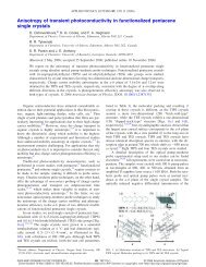Anisotropy of transient photoconductivity in functionalized ...
