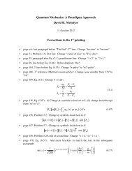 Errata - Physics at Oregon State University
