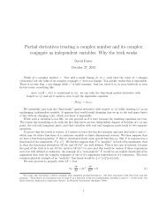 Partial derivatives treating a complex number and its complex ...