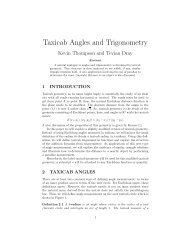 Taxicab Angles and Trigonometry - Physics at Oregon State University