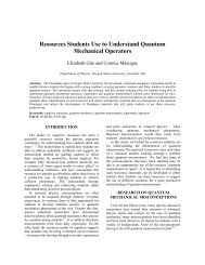 Resources Students Use to Understand Quantum Mechanical ...