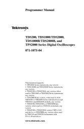 TDS200, TDS1000/TDS2000, TDS1000B/TDS2000B, and TPS2000 ...
