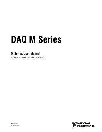 M Series User Manual - Physics at Oregon State University