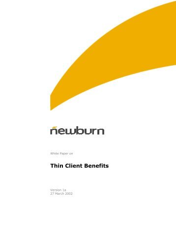 Thin Client Benefits - Wyse Technology