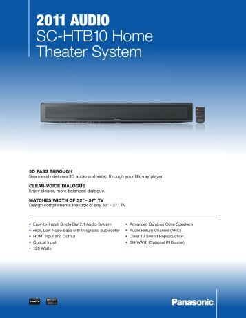 2011 AudiO SC-HTB10 Home Theater System