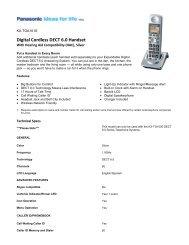 Digital Cordless DECT 6.0 Handset
