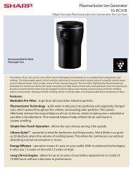Plasmacluster Ion Generator - Home Depot