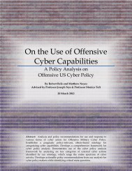 On the Use of Offensive Cyber Capabilities - Belfer Center for ...