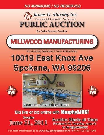 Woodworking Equipment & Tools, Rolling Stock - James G. Murphy ...