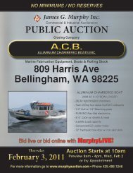 PUBLIC AUCTION - James G. Murphy Co.