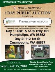 2 DAY PUBLIC AUCTION - James G. Murphy Co.