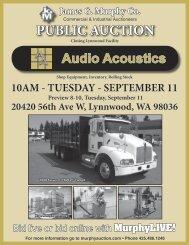 PUBLIC AUCTION - James G. Murphy Co.