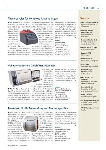 Weitere Produkte - BIOspektrum