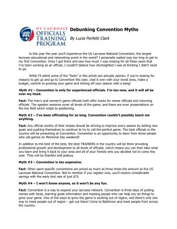Debunking Convention Myths