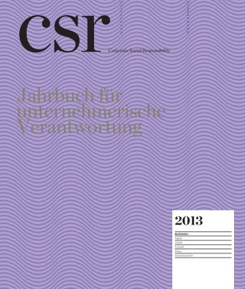 Jahrbuch für unternehmerische Verantwortung - MediaNET.at