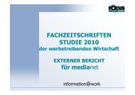 Microsoft PowerPoint - Fachzeitschriftenstudie 2010 f ... - MediaNET.at