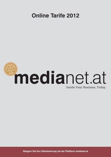 Online Tarife Online Tarife 2012 - MediaNET.at