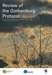 Review of the Gothenburg Protocol - UNECE