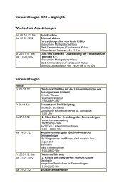 Veranstaltungen 2012 - Stadt Emmendingen