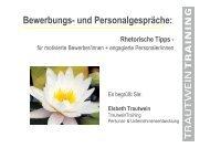 Bewerbungs- und Personalgespr-344che - Tipps & Kniffe
