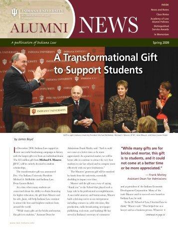 Alumni News Spring09 - Indiana University School of Law