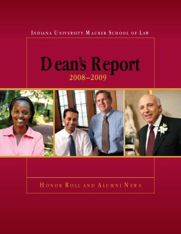 honor roll and alumni news - Indiana University School of Law