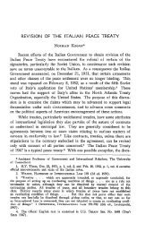 REVISION OF THE ITALIAN PEACE TREATY - Indiana Law Journal