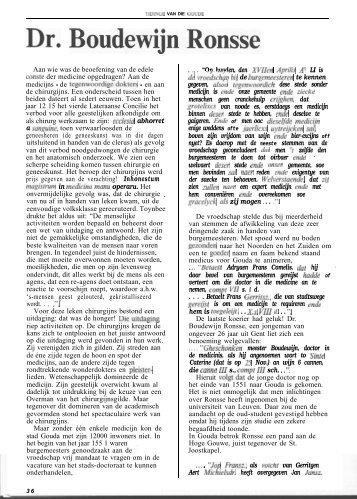 Dr. Boudewijn Ronsse (Tidinge 1989) - Goudanet
