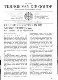 Goudse kloosters in de Middeleeuwen (6) (Tidinge 1998) - Goudanet