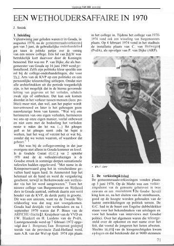 Een wethoudersaffaire in 1970 (Tidinge 1995) - Goudanet