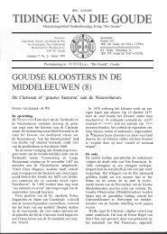 Goudse kloosters in de Middeleeuwen (8) (Tidinge 1999) - Goudanet