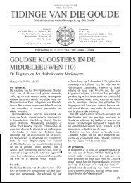 Goudse kloosters in de Middeleeuwen (10) (Tidinge 1999) - Goudanet