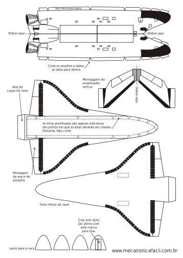 Modelo para a montagem da nave Endeavour